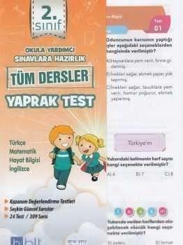 Bulut Eğitim ve Kültür Yayınları 2. Sınıf Tüm Dersler Çek Kopart Yaprak Test