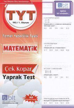 Bulut Eğitim ve Kültür YayınlarıTYT  Matematik Çek Kopart Yaprak Test