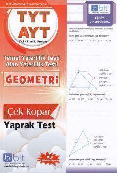 Bulut Eğitim ve Kültür Yayınları TYT AYT Geometri Temel ve Alan Yeterlilik Çek Kopart Yaprak Test