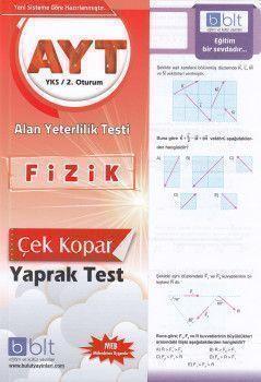 Bulut Eğitim ve Kültür Yayınları AYT Fizik Çek Kopart Yaprak Test