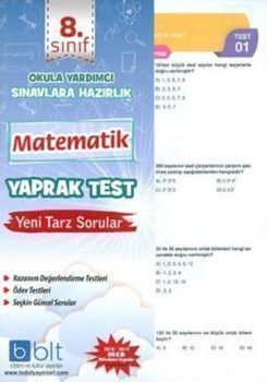 Bulut Eğitim Yayınları 8. Sınıf Matematik Yaprak Test