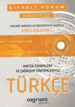 Çağrışım Yayınları Şifreli Yorum Kanat Yıldız Türkçe Konu Anlatımlı