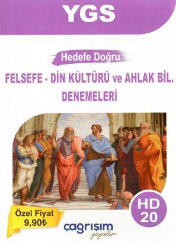 Çağrışım Yayınları YGS Hedef Doğru Felsefe Din Kültürü ve Ahlak Bilgisi 20 Denemeleri