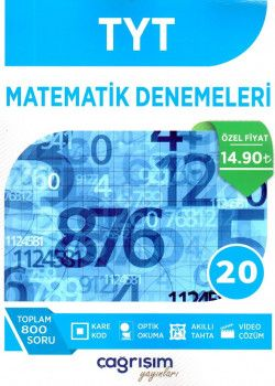 Çağrışım Yayınları YKS 1. Oturum TYT Matematik 20 Denemeleri
