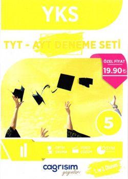 Çağrışım Yayınları YKS 1. ve 2. Oturum TYT AYT 5 Deneme Seti Temel Kolay Seviye
