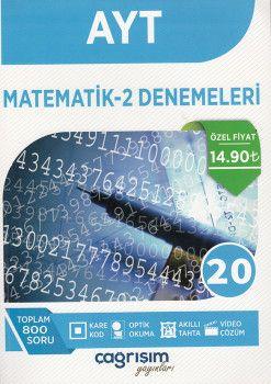 Çağrışım Yayınları AYT Matematik Denemeleri 20 li
