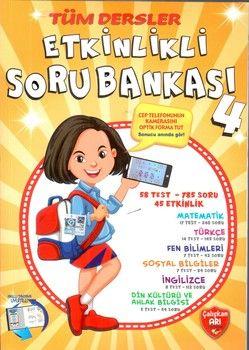 Çalışkan Arı Yayınları 4.Sınıf Tüm Dersler Etkinlikli Soru Bankası