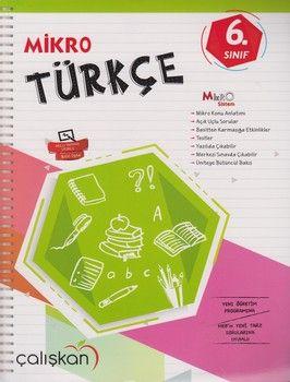 Çalışkan Yayınları 6. Sınıf Mikro Türkçe