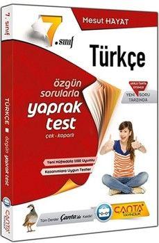Çanta Yayınları 7. Sınıf Türkçe Yaprak Test