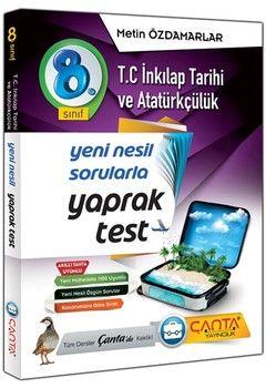 Çanta Yayınları 8. Sınıf İnkılap Tarihi ve Atatürkçülük Yaprak Test