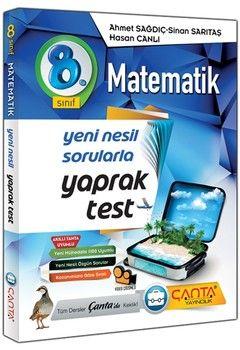 Çanta Yayınları 8. Sınıf Matematik Yaprak Test