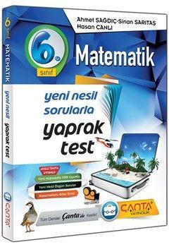 Çanta Yayınları 6. Sınıf Matematik Yaprak Test