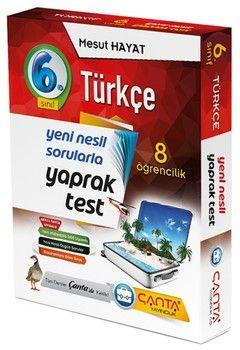 Çanta Yayınları 6. Sınıf Türkçe 8 Öğrencilik Kutu Yaprak Test