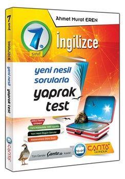 Çanta Yayınları 7. Sınıf İngilizce Yaprak Test