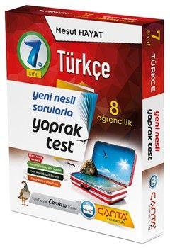 Çanta Yayınları 7. Sınıf Türkçe 8 Öğrencilik Kutu Yaprak Test