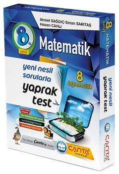 Çanta Yayınları 8. Sınıf Matematik 8 Öğrencilik Kutu Yaprak Test