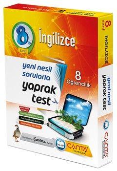 Çanta Yayınları 8. Sınıf İngilizce 8 Öğrencilik Kutu Yaprak Test