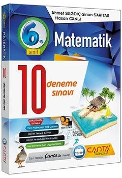 Çanta Yayınları 6. Sınıf Matematik 10 Deneme