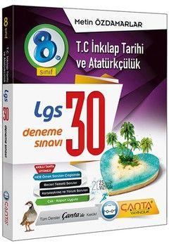 Çanta Yayınları 8. Sınıf LGS T.C. İnkılap Tarihi ve Atatürkçülük 30 Deneme
