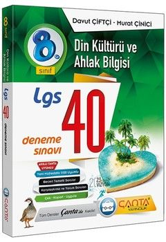 Çanta Yayınları 8. Sınıf LGS Din Kültürü ve Ahlak Bilgisi 40 Deneme