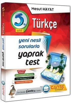 Çanta Yayınları 5. Sınıf Türkçe Yaprak Test