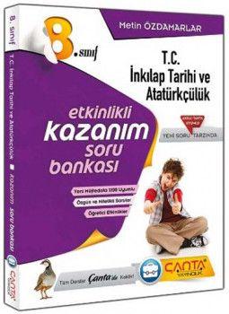 Çanta Yayınları 8. Sınıf Kazandıran T.C. İnkılap Tarihi ve Atatürkçülük Soru Bankası