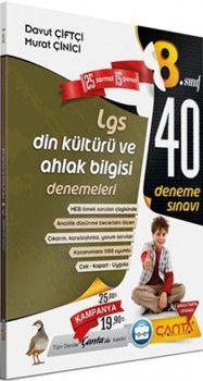 Çanta Yayınları 8. Sınıf LGS Din Kültürü Ve Ahlak Bilgisi 40 Deneme Sınavı