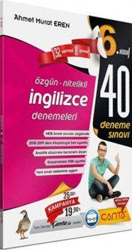 Çanta Yayınları 6. Sınıf İngilizce 40 Deneme Sınavı