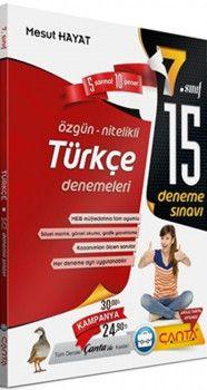 Çanta Yayınları 7. Sınıf Türkçe 15 Deneme Sınavı