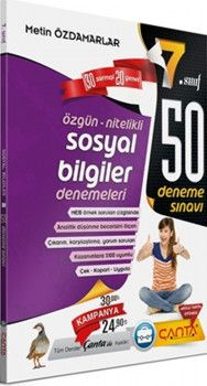 Çanta Yayınları 7. Sınıf Sosyal Bilgiler 50 Deneme Sınavı