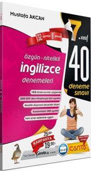 Çanta Yayınları 7. Sınıf İngilizce 40 Deneme Sınavı