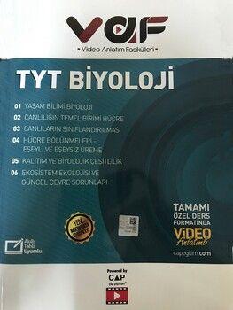 Çap TYT Biyoloji VAF Video Anlatım Fasikülleri