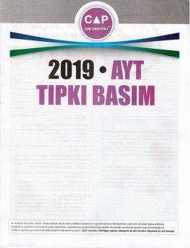 Çap Yayınları 2019 AYT Tıpkı Basım