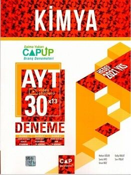 Çap Yayınları AYT Kimya 30 x 13 Up Deneme