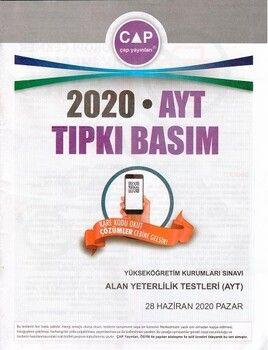 Çap Yayınları AYT 2020 Tıpkı Basım
