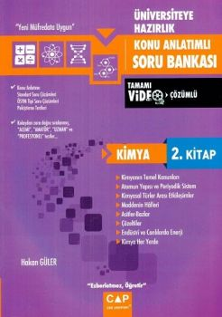 Çap Yayınları Üniversiteye Hazırlık Kimya Konu Anlatımlı Soru Bankası 2. Kitap