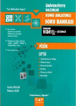 Çap Yayınları Üniversiteye Hazırlık Fizik Optik Tamamı Video Çözümlü Konu Anlatımlı Soru Bankası