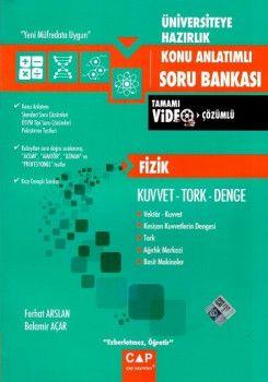 Çap Yayınları Üniversiteye Hazırlık Fizik Kuvvet Tork Denge Tamamı Video Çözümlü Konu Anlatımlı Soru Bankası