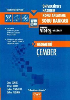 Çap Yayınları Üniversiteye Hazırlık Geometri Çember Konu Anlatımlı Tamamı Video Çözümlü Soru Bankası
