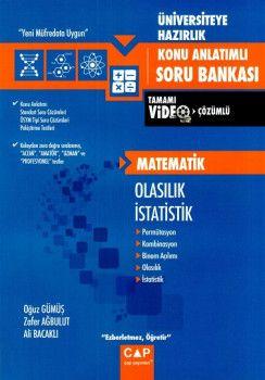 Çap Yayınları Üniversiteye Hazırlık Matematik Olasılık İstatistik Konu Anlatımlı Tamamı Video Çözümlü Soru Bankası