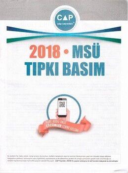 Çap Yayınları Üniversiteye Hazırlık MSÜ 2018 Tıpkı Basım