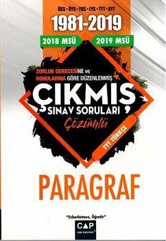 Çap Yayınları Türkçe Paragraf Çözümlü Çıkmış Sınav Soruları