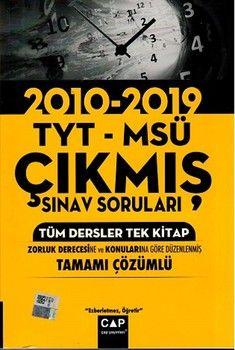 Çap Yayınları TYT MSÜ Tüm Dersler Tek Kitap Tamamı ÇözümlüÇıkmış Sınav Soruları