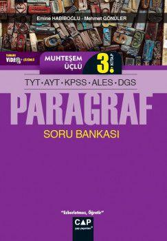 Çap Yayınları TYT AYT KPSS ALES DGS Paragraf Muhteşem Üçlü 3. Kitap Tamamı Video Çözümlü Soru Bankası
