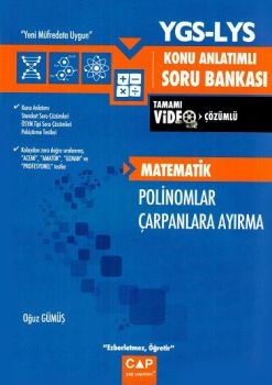 Çap Yayınları YGS LYS Matematik Polinomlar Çarpanlara Ayırma Konu Anlatımlı Soru Bankası
