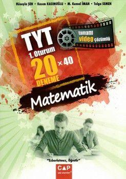 Çap Yayınları YKS 1. Oturum TYT Matematik Tamamı Video Çözümlü 20X40 Deneme