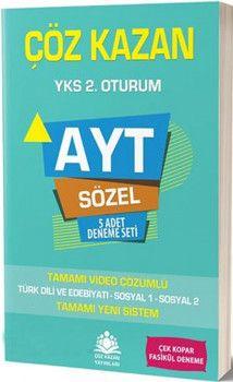 Çöz Kazan Yayınları AYT Sözel 5 Adet Deneme Seti
