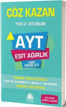 Çöz Kazan Yayınları AYT Eşit Ağırlık 5 Adet Deneme Seti