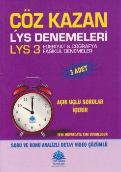 Çöz Kazan Yayınları LYS 3 Edebiyat Coğrafya 3 lü Deneme