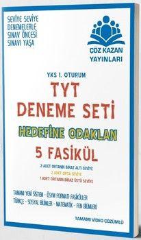 Çöz Kazan Yayınları TYT 5 Fasikül Deneme Seti